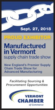 Blast & Wash Systems will be exhibiting in the 2018 Manufactured in Vermont Supply Chain Trade Show on Thursday, September 27