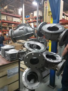 Used Wheelabrator Spinner Hanger w/ Dust Collector