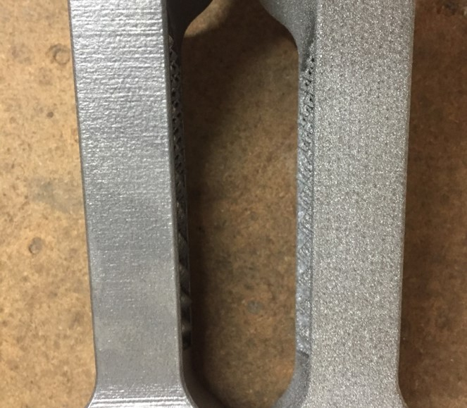 Smoothing 3D Parts Wet Blasting