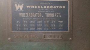 Wheelabrator 3.5 cube tumble blaster